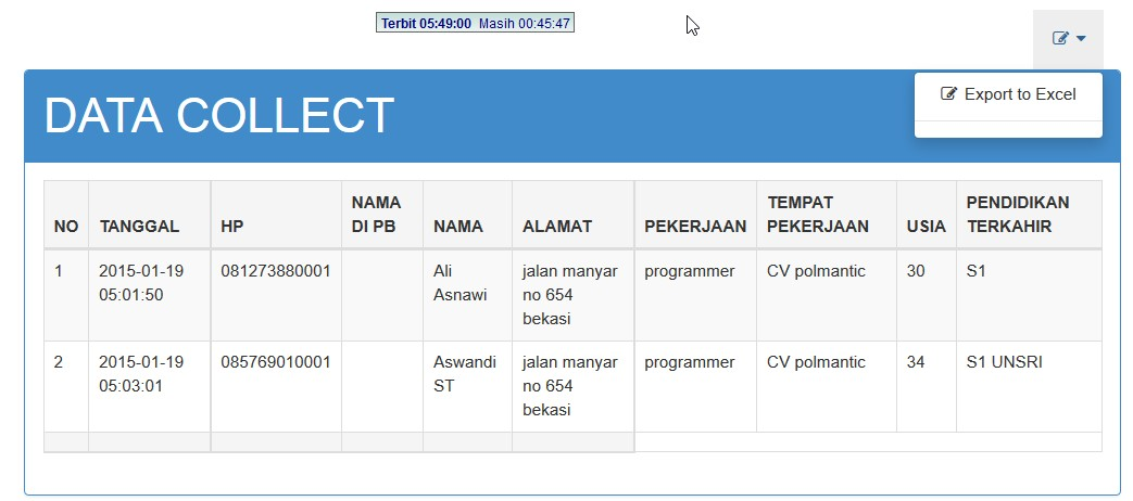 sms registration service