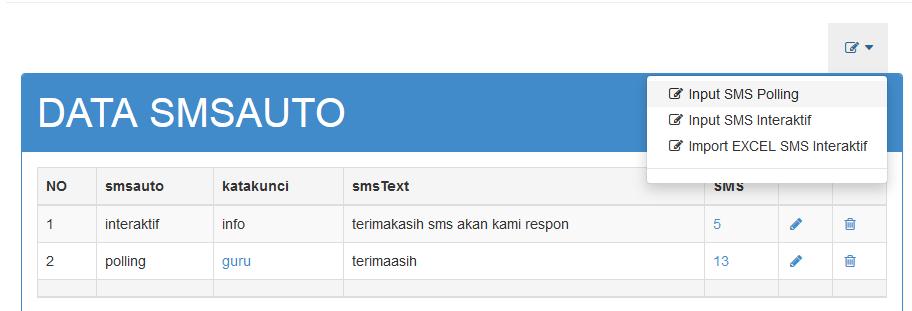 cara membuat sms polling nixsms